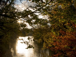 Coucher de soleil sur le lac de la Tête d'Or